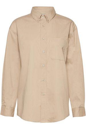 Gestuz Naiset Paidat - Meluagz Oz Shirt Overshirts Beige