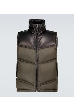 Tom Ford Nylon and leather down-filled gilet