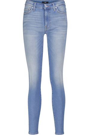 7 for all Mankind Slim Illusion Necessity mid-rise skinny jeans