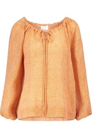 Lisa Marie Fernandez Linen-blend blouse