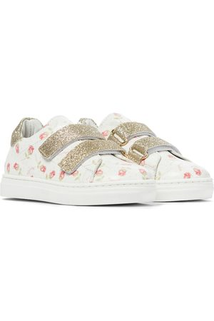 MONNALISA Baby floral leather sneakers