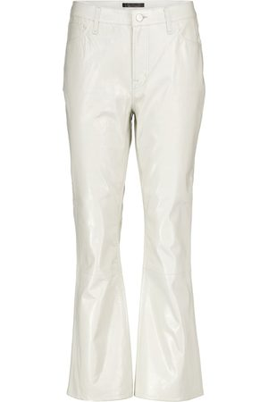 J Brand Franky high-rise leather bootcut jeans