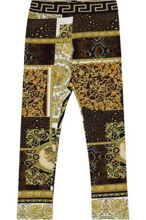 VERSACE Barocco Mosaic stretch-cotton leggings