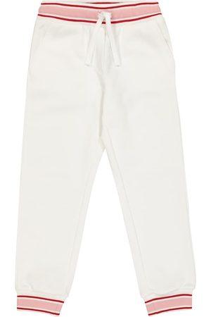 Dolce & Gabbana Appliqué cotton trackpants