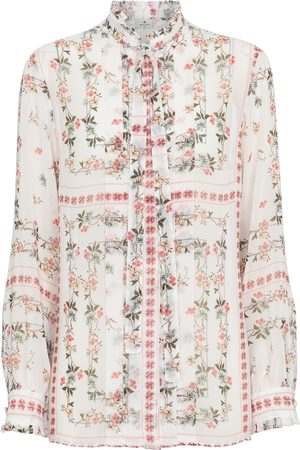 Etro Printed ruffled shirt