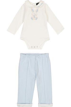 MONNALISA Baby cotton-jersey onesie and pants set