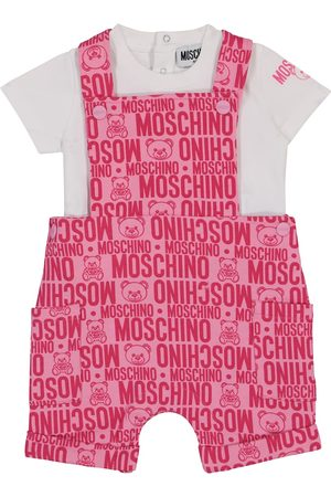 Moschino Baby stretch-cotton t-shirt and overalls set