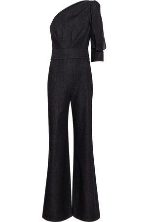 Safiyaa Gia stretch-denim jumpsuit