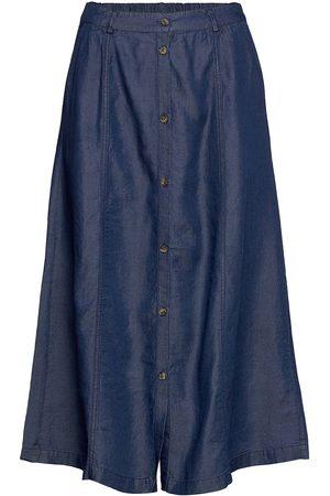 Soft Rebels Naiset Midihameet - Srvaleria Midi Skirt Polvipituinen Hame Sininen