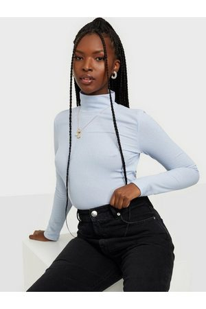 NLY Trend Naiset Pikee - Light Rib Polo Top Vaaleansininen