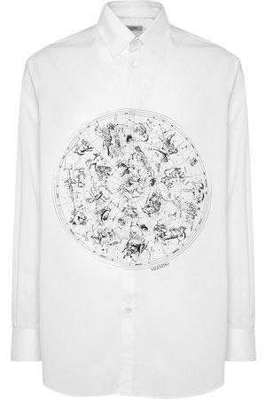 VALENTINO Miehet Paidat - Zodiac Map Cotton Poplin Shirt
