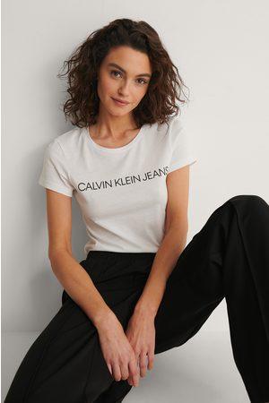 Calvin Klein Core Institutional Logo Tee - White