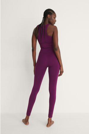 NA-KD Flow Naiset Leggingsit - Kierrätetty Korkeavyötäröiset Leggingsit - Purple