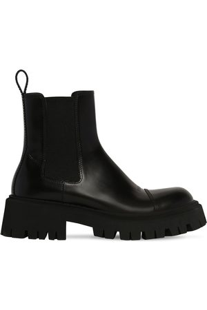 Balenciaga Tractor Bootie L20 Leather Boots