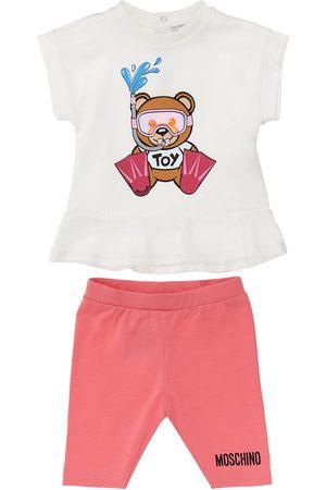 Moschino Tytöt Leggingsit - Cotton Jersey T-shirt & Leggings