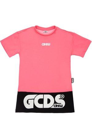 GCDS Tytöt Rennot Mekot - Logo Cotton Blend Jersey Dress