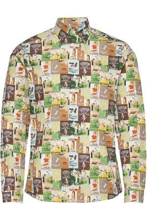 Eton Super Slim Fit Business Casual Poplin Shirt Paita Rento Casual Monivärinen/Kuvioitu