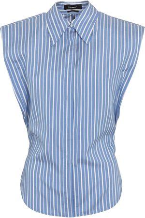 Isabel Marant Naiset Hihattomat - Enza pinstriped silk shirt