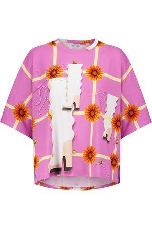 Loewe Naiset T-paidat - Printed cotton T-shirt