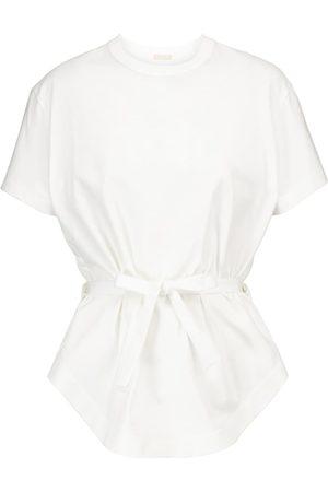 Alaïa Peplum cotton T-shirt