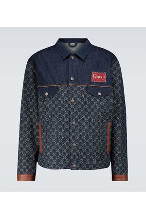 Gucci Miehet Farkkutakit - Eco-washed organic GG denim jacket