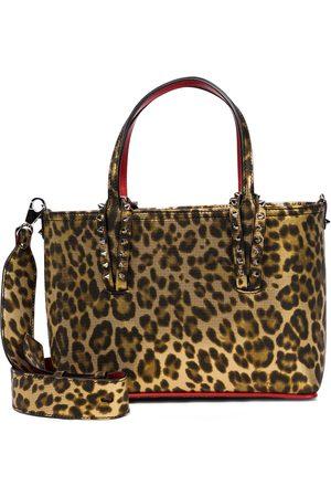 Christian Louboutin Naiset Ostoskassit - Cabata Small leopard-print leather tote