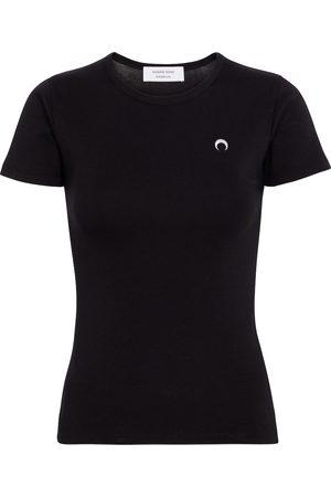 Marine Serre Naiset T-paidat - Embroidered cotton T-shirt