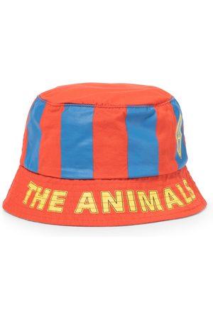 The Animals Observatory Starfish striped cotton bucket hat