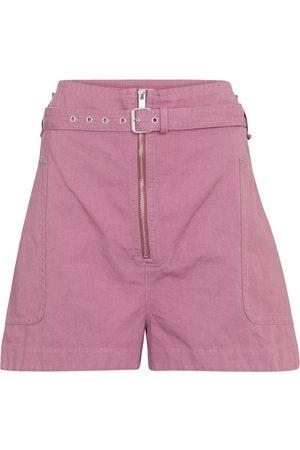 Isabel Marant Naiset Bermuda - Parana cotton and linen Bermuda shorts