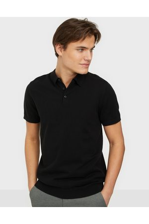 Selected Miehet Pikee - Slhberg Ss Polo Neck B Noos Pikeepaidat Black