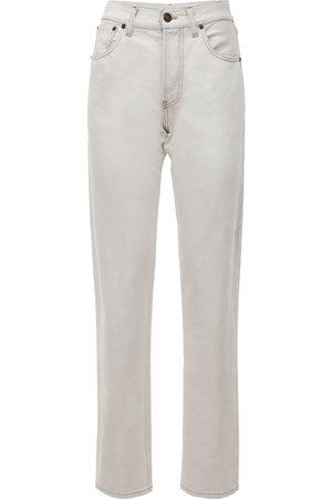 Saint Laurent Naiset Suorat - Cotton Denim Straight Leg Jeans