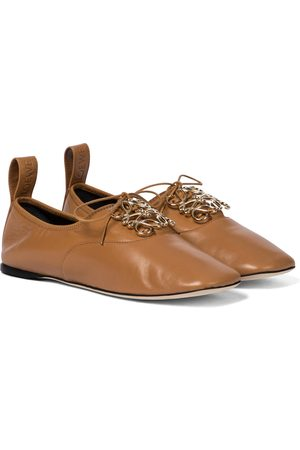 Loewe Naiset Loaferit - Anagram leather Derby shoes