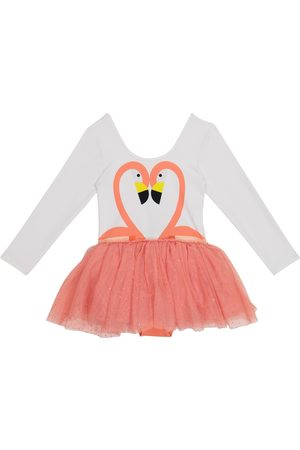 Stella McCartney Flamingo jersey and tulle dress