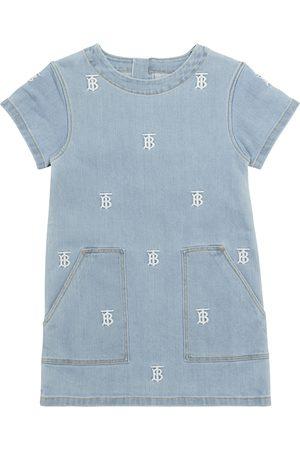 Burberry Tytöt Kesämekot - Logo embroidered denim dress