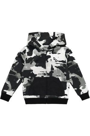 Dolce & Gabbana Camo cotton jersey hoodie