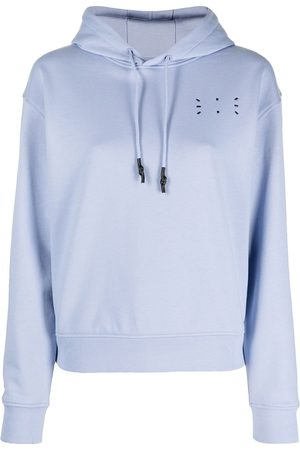 McQ Naiset Collegepaidat - Embroidered logo hooded sweatshirt