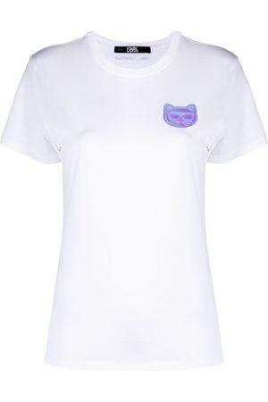 Karl Lagerfeld Naiset T-paidat - Mini Ikonik Choupette-patch T-Shirt
