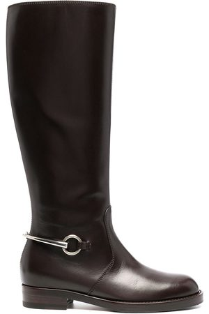 Gucci Naiset Ylipolvensaappaat - Buckle-detail knee-length boots