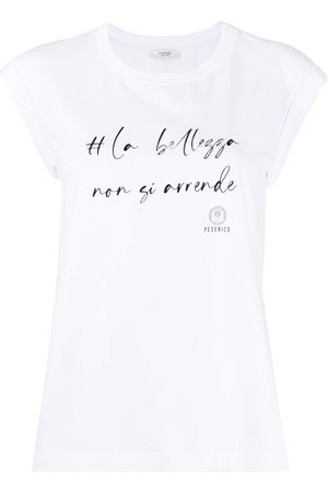 PESERICO SIGN Slogan print T-shirt