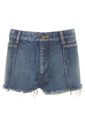 Saint Laurent Cotton Mini Shorts