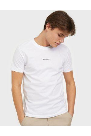 Calvin Klein Micro Branding Essential Ss Tee T-paidat ja topit White