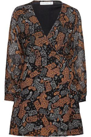 FAITHFULL THE BRAND Naiset Kesämekot - La Morra Wrap Dress Lyhyt Mekko Musta