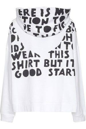 Maison Margiela Naiset Collegepaidat - Printed Cotton Sweatshirt Hoodie
