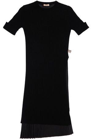 Nº21 Pleated Rib Knit Dress & Jersey Slip