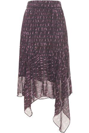 Isabel Marant Soleda Asymmetrical Chiffon Skirt