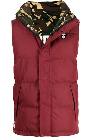 AAPE BY *A BATHING APE® Miehet Liivit - Embroidered logo padded gilet