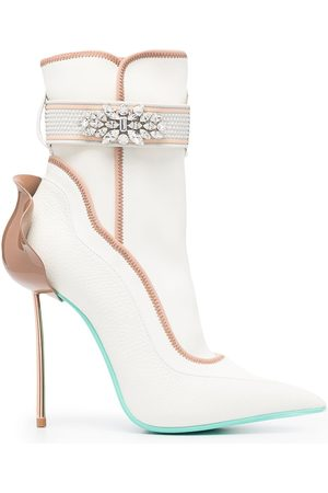 LE SILLA Naiset Nilkkurit - Crystal-embellished ankle boots