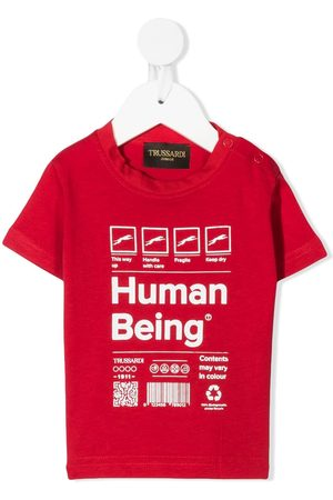 Trussardi Package-print cotton t-shirt