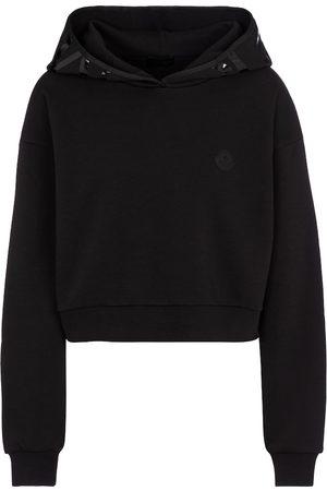 Moncler Naiset Pitkähihaiset - Cotton-blend cropped hoodie