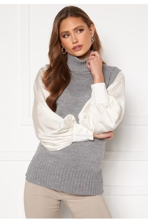 SisterS point Pulk Knit 50 Mid Grey M